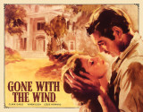 Gone with the Wind Poster at Tara Tin Sign