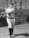 Babe Ruth - No Fear Plaque en métal