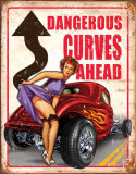 Legends - Dangerous Curves Cartel de chapa
