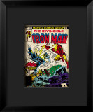 Marvel Comics Retro: The Invincible Iron Man Comic Book Cover #124, Action in Atlantic City Impressão giclée emoldurada