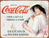 COKE - Thru a Straw Plechová cedule