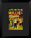 Marvel Comics Retro: Life with Millie Comic Book Cover 13, Bathing Suit, Beach Club Dance Framed Giclee Print