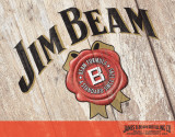 Jim Beam - Woodcut Tin Sign