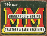Minneapolis - Moline Logo Tin Sign