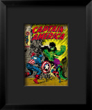 Marvel Comics Retro: Captain America Comic Book Cover 110, with the Hulk and Bucky Framed Giclee Print