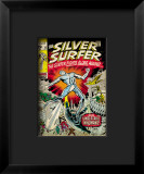 Marvel Comics Retro: Silver Surfer Comic Book Cover #18, Against the Unbeatable Inhumans! Impressão giclée emoldurada