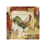 Colorful Rooster I Giclee Print by Lisa Audit