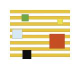 Color Block on Stripe Giclee Print by Dan Bleier