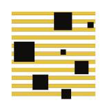 Black Block on Stripe Giclee Print by Dan Bleier