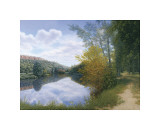 Path Along the River Giclee Print by Arzt 