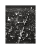 Night View of Lower Manhattan Giclée-tryk af Christopher Bliss