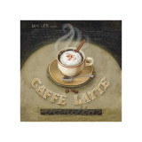 Café Latte Giclee Print by Lisa Audit