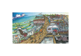 A Day at the Beach Giclee Print by BOGY (Aaron Bogushefsky) 