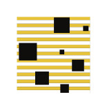 Black Block on Stripe Giclee Print by Dan Bleier