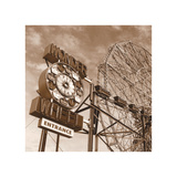 Wonder Wheel Giclee Print by Erin Clark