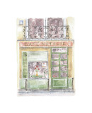 Cafe Natalie Giclee Print by Jane Claire