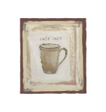 Cafe Latte Giclee Print by Jane Claire