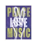 Peace, Love, Music Giclee Print by Erin Clark