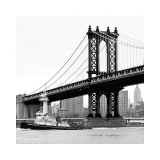 Manhattan Bridge with Tug Boat Giclee Print by Erin Clark