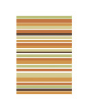 Terracotta Stripes Giclee Print by Denise Duplock