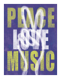 Peace, Love, Music Giclee Print by Erin Clark