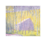 Saltbox Barn, 2002 Giclee Print by Wolf Kahn