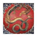 Dragon (detail) Giclee Print by Katsushika Hokusai