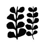 Maidenhair (black on white) Giclée-tryk af Denise Duplock