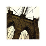 Brooklyn Bridge II (sepia) (detail) Giclee Print by Erin Clark