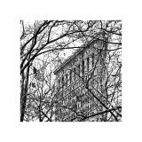 Veiled Flatiron Building (detail) Giclée-tryk af Erin Clark