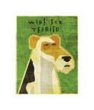 Wire Fox Terrier Giclee Print by John Golden