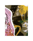 Pink Yellow Tag II Giclee Print by Jenny Kraft