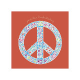 Peace, Love and Understanding Giclee Print by Erin Clark