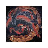 Phoenix (detail) Giclée-tryk af Katsushika Hokusai