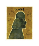 Poodle (black) Lmina gicle por John Golden