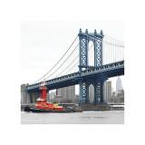 Manhattan Bridge with Tug Boat Giclee Print by Erin Clark