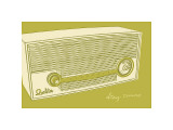 Lunastrella Radio Giclee Print by John Golden