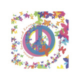 Peace, Love and Harmony Giclee Print by Erin Clark
