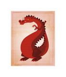 Red Dragon Giclee Print by John Golden
