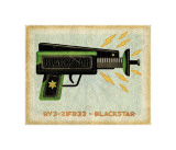 Blackstar Ray Gun Giclee Print by John Golden