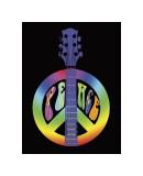 Peace Guitar Giclee Print by Erin Clark