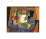 Fruit Bowl on a Tablecloth Giclee Print by Juan Gris
