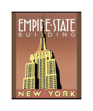 Empire State Building Giclée-tryk af Brian James