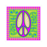 Peace sign (purple) Lámina giclée por Kem Mcnair