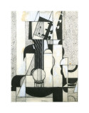 Still Life with Guitar Impresso gicle por Juan Gris