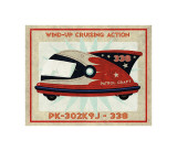 Patrol Craft 338, Box Art Tin Toy Giclee Print by John Golden