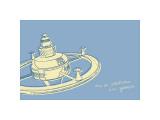 Lunastrella Space Station Giclee Print by John Golden