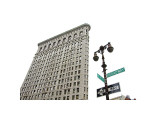 Flatiron Building with Lamp Giclee Print by Erin Clark