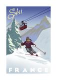 Ski France Lámina giclée por Kem Mcnair