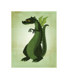 Green Dragon Giclee Print by John Golden